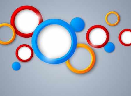 cool background: Background with colorful circles  Abstract illustration