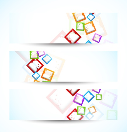 Set of banners with squares  Abstract illustraiton Stock Vector - 18561233