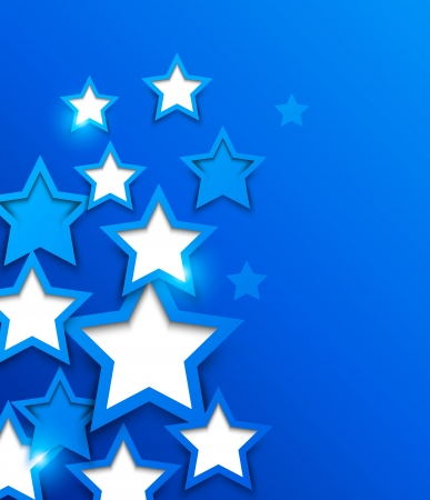 blue ray: Abstract background with blue stars Illustration