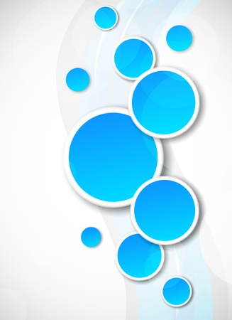 Background with blue circles  Abstract illustration Vector