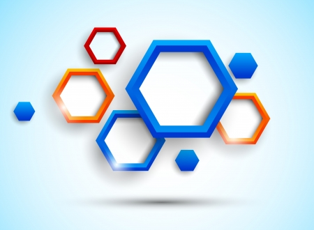 Background with colorful hexagons  Abstract illustration Vector