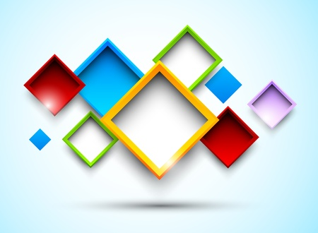rhomb: Colorful background with squares  Abstract illustration Illustration