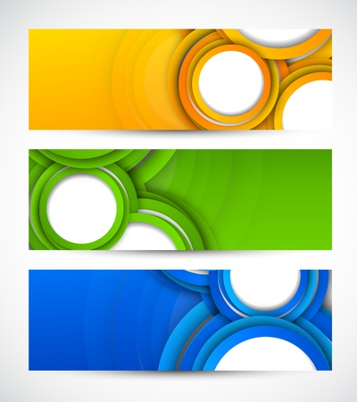 Set of banners with circles  Abstract illustration