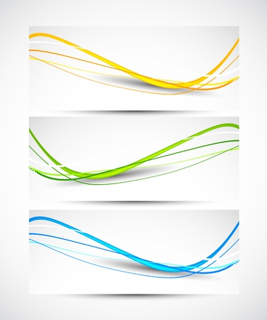 Set of wavy banners  Abstract illustration Stock Vector - 18840560