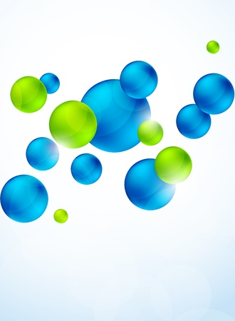 Abstract background with bubbles  Bright illustration Vector