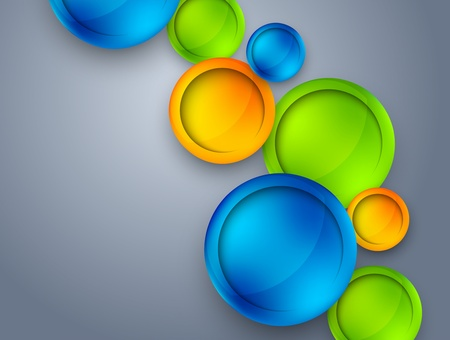 Abstract background with colorful circles Vector