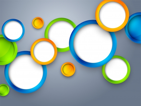 Abstract background with colorful circles  Bright illustration Vector