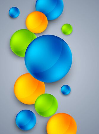 Abstract background with  colorful spheres  Bright illustration Vector