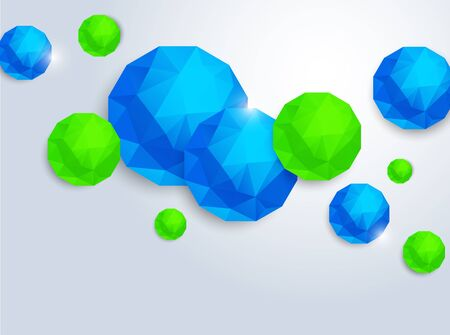 Abstract background with polygonal spheres Vector