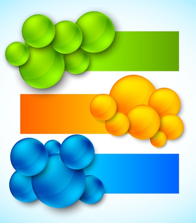 Set of banners with bubbles  Abstract illustration Vector