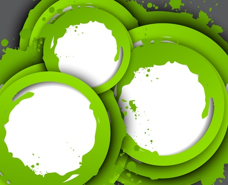 Abstract background with green circles  Bright illustration Vector