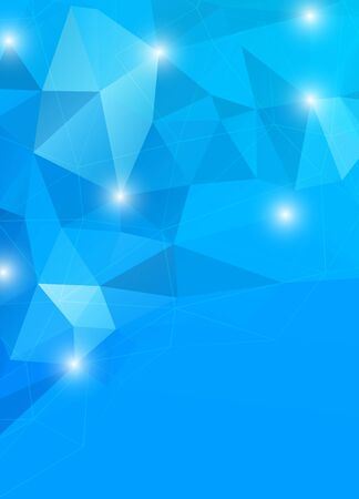 Abstract geometric background in blue color Vector