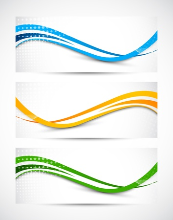 kurve: Set von abstrakten wellig Banner