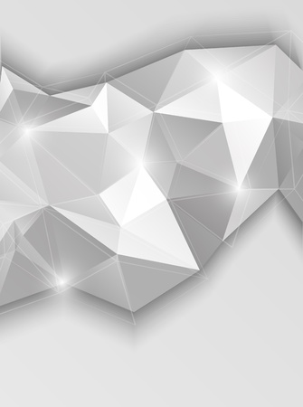 Background with gray triangles  Abstract illustration Vector