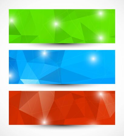 Set of abstract banners  Bright illustration Vector