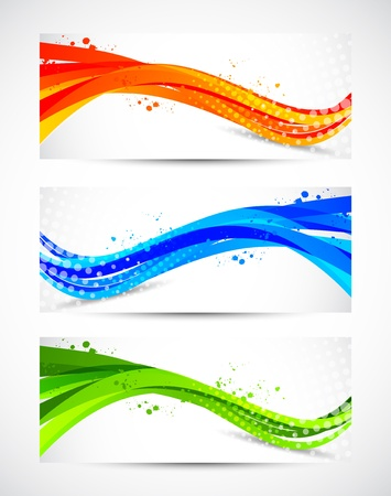 motions: Set of abstract wavy banners