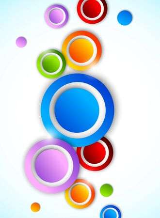 Abstract background with circles  Bright illustration Vector