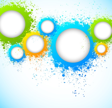Abstract background with grunge circles  Bright illustration Vector