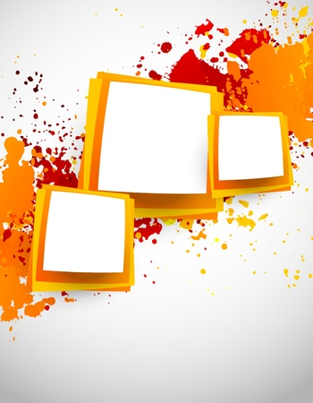 Abstract grunge background with squares  Abstract illustration Vector