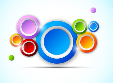 Background with colorful circles  Abstract illustration Vector