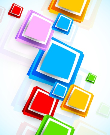 colour: Background with colorful squares  Abstract illustraiton Illustration