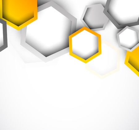 simple: Background with hexagons  Abstract illustration Illustration
