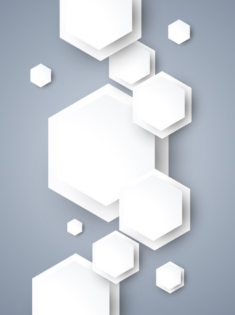 Abstract background with withe hexagons Vector