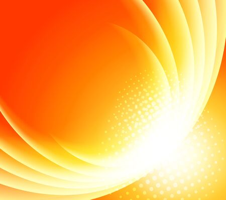 Bright orange background  Abstract illustration Vector