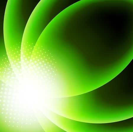 Abstract background in green color Stock Vector - 18970937