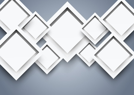 Abstract background with white squares Vector
