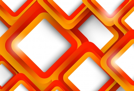 Abstract orange background with squares Stock Vector - 18970962