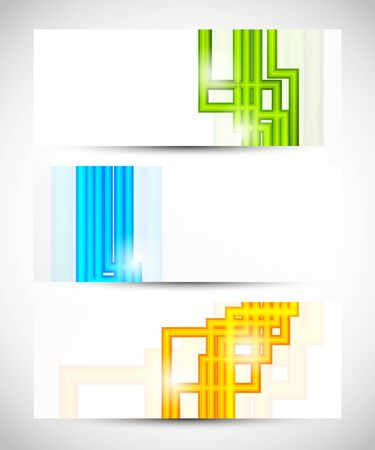 Set of banners with lines  Abstract illustration Vector
