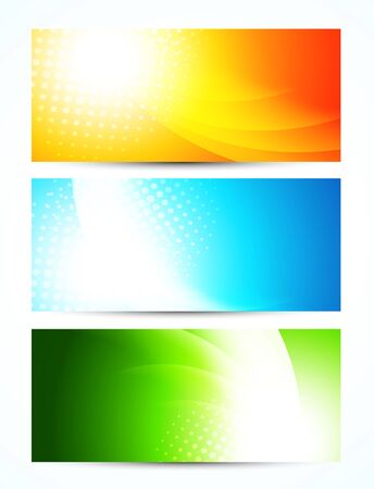 Set of bright banners Vector