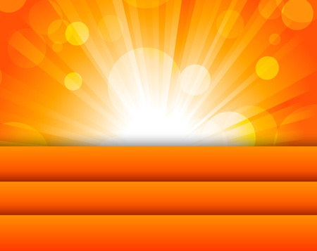 Abstract orange background  Bright illustration Vector