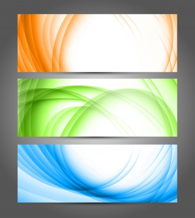 Set of abstract banners  Bright illustration Stock Vector - 18970862