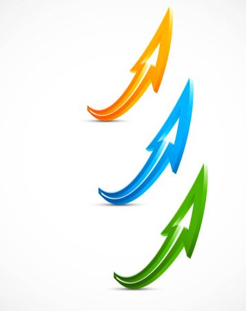 Set of color arrows  Abstract illustration Vector