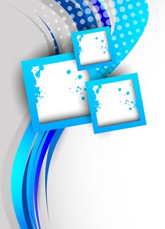flyer background: Abstracte achtergrond in blauwe kleur Stock Illustratie