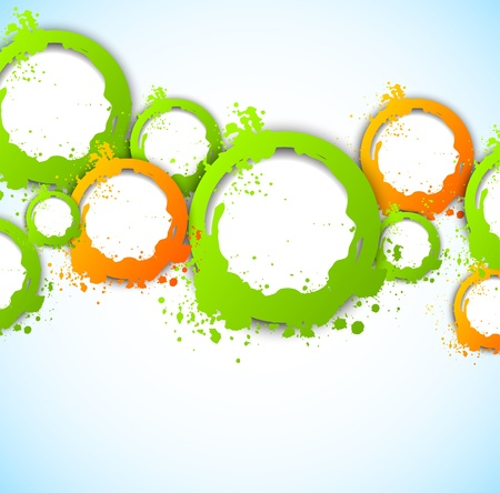 Abstract background with grunge circles Vector