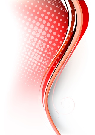Abstract red background  Bright illustration Illustration