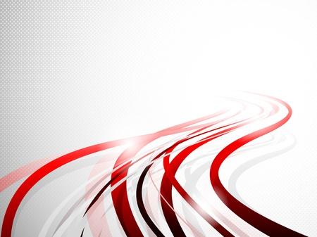 抽象的な波状の背景明るいイラスト