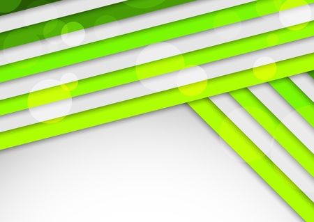 Background with green stripes  Abstract illustration Vector