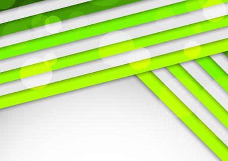 Fondo con rayas verdes Ilustración abstracta