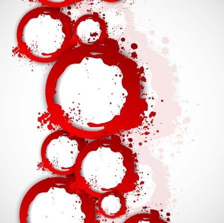 Abstract background with circles in red color Vector