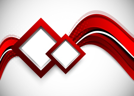 Abstract wavy backround in red color Vector