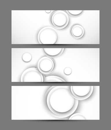 Set of banners with white circles Vector