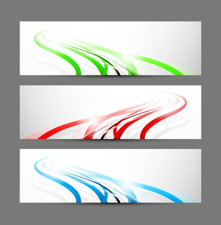 Set of banners  Abstract illustration Vector