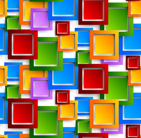 Abstract pattern with colorful squares Vector