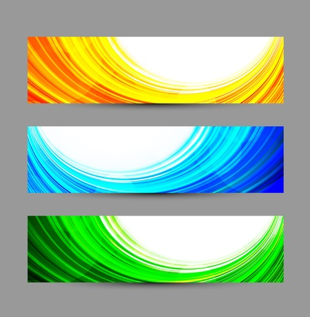 Set of abstract banners  Bright illustration Stock Vector - 19348110