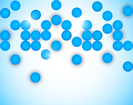 Abstract background with blue circles Stock Vector - 19348058