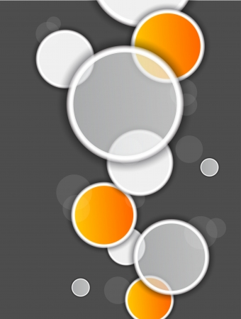 Circles on gray background Vector